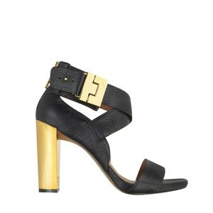 Rachel Zoe Brooklyn tumbled leather sandals black